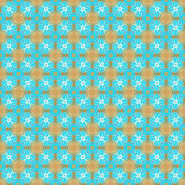 Muster Patter Ornamental blue