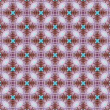 Muster Pattern Braun Gold abgerundet