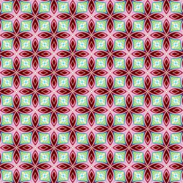 Muster Pattern geometrisch grün rot
