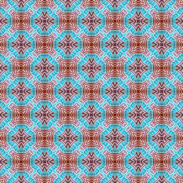 Pattern Muster Blau ornamental