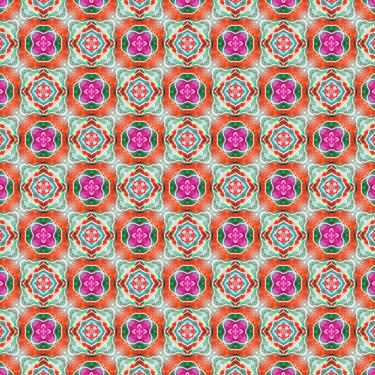 Muster Pattern Design Grün Pink