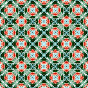 Muster Pattern Art Grün Floral Sommergarten