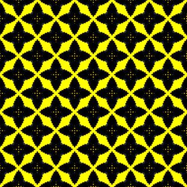 Muster Gelb geometrisch
