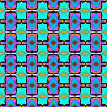 Muster Pattern Ornament Geometrisch Türkis