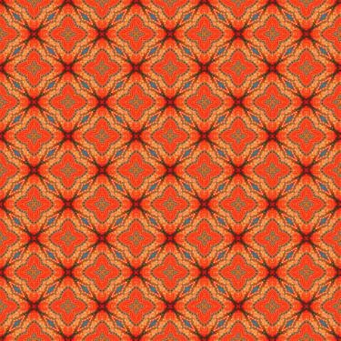 Muster Pattern Ornament Geometrisch orange