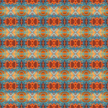 Muster Pattern Ornament Geometrisch Orange Blau