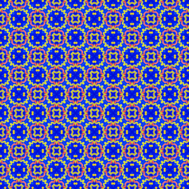 Muster Pattern Ornament Gelb Blau