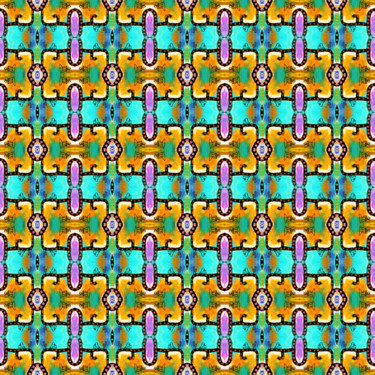 Muster Pattern Ornament Art Türkis