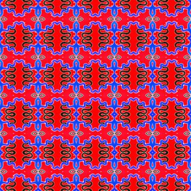 Muster Pattern Ornament Rot Blau Oriental
