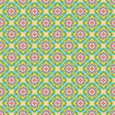 Pattern Muster Ornament Türkis Yellow